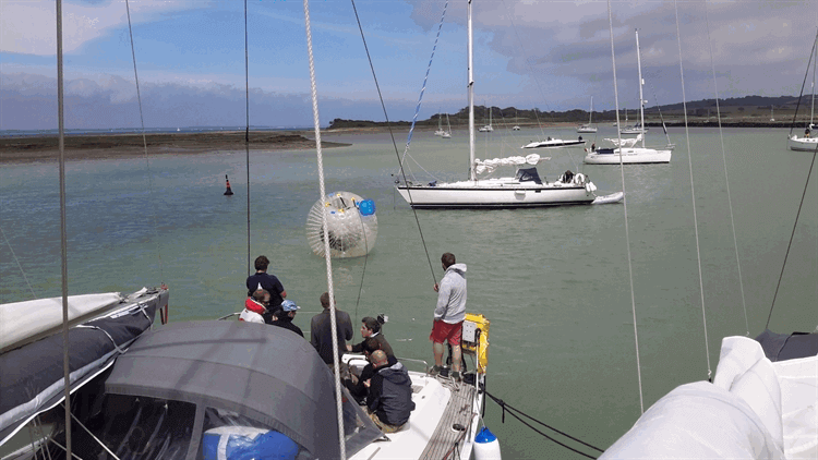 Crew Escape Yacht in Zorb